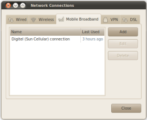 Ubuntu 10.04 Network Connections Dialog